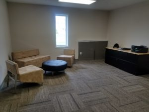Suite 105 with furnishings, at the Jenison Office Suites